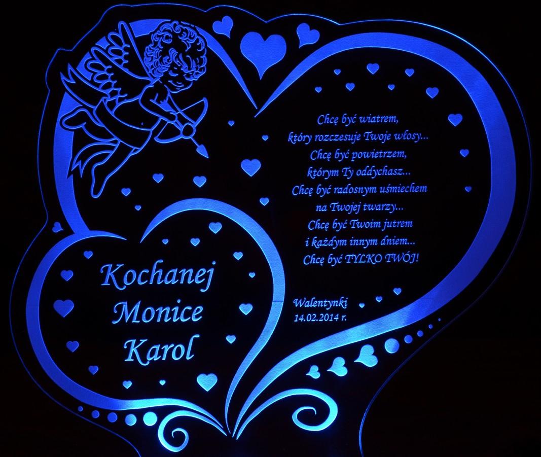 W21 Walentynki Prezent Dla Dziewczyny Dla Chłopaka Walentynka Statuetka Led