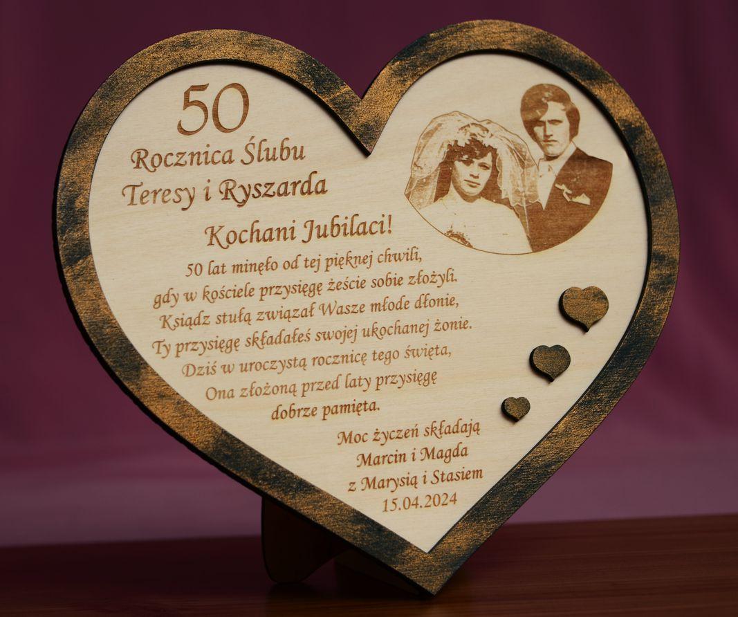 W15 Rocznica ślubu Jubileusz 10 20 30 40 50 Statuetka Prezent