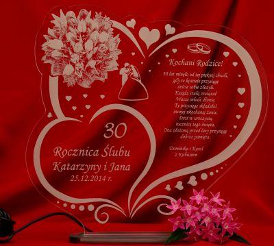 W20 Rocznica ślubu Jubileusz 10 20 30 40 50 Statuetka Prezent Led