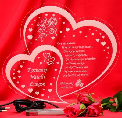 W11 Walentynki Prezent Dla Dziewczyny Dla Chłopaka Walentynka Statuetka Led